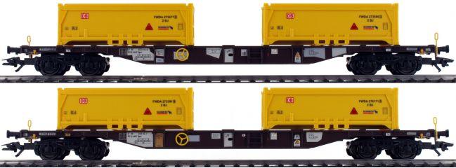märklin 47131 Containertragwagen-Set Sgns Stuttgart 21 AAE   Spur H0