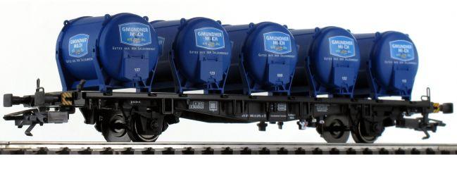 märklin 48934 Behälter-Tragwagen Lbgjs 598 Milch ÖBB | Spur H0