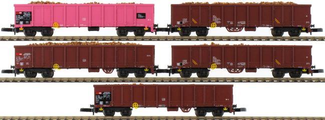 märklin 82540 Hochbordwagen-Set 5-tlg. Eanos Rübenkampagne SBB | Spur Z online kaufen