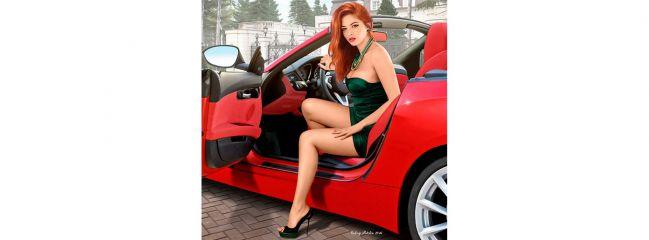 MasterBox 24021 Auto Figur Claire | Auto Zubehör Bausatz 1:24