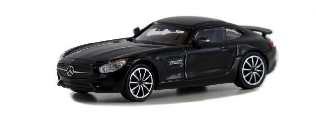 MINICHAMPS 870037120 Mercedes-AMG GTS 2015 schwarz Automodell Spur H0
