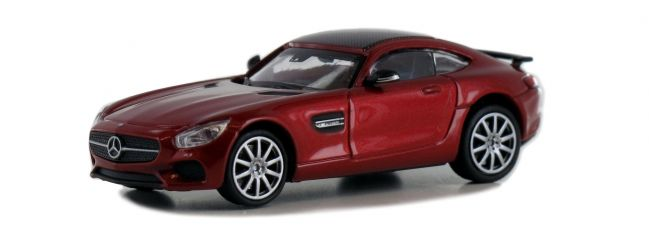 MINICHAMPS 870037121 Mercedes-AMG GTS 2015 weinrot-metallic Automodell Spur H0