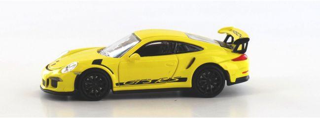 MINICHAMPS 870063225 Porsche  911 GT3 RS 2015 gelb schwarz Automodell Spur H0