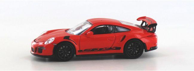 MINICHAMPS 870063226 Porsche 911GT3 RS 2015  lavaorange schwarz Automodell Spur H0