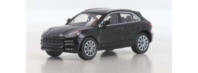 MINICHAMPS 870067001 Porsche Macan Turbo  2013 schwarz Automodell 1:87