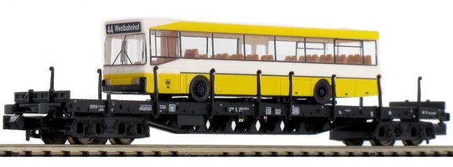 MINITRIX 15861 Flachwagen Rs 684 mit Bus DB | Spur N