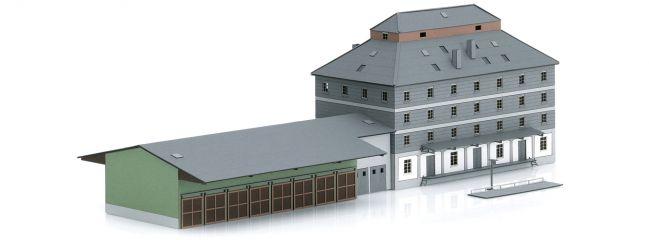 MINTRIX 66324 Raiffeisen Lagerhaus mit Markt   Gebäude Bausatz Spur N