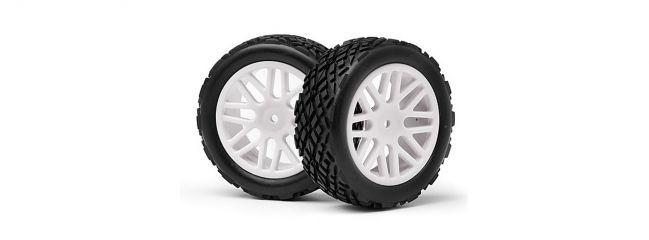 LRP MV22622 Reifen auf Felge für Strada Evo XB vorne weiß (2)