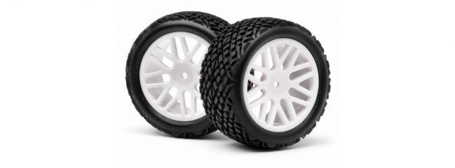 LRP MV22707 Reifen auf Felge für Strada Evo XB hinten weiß (2)