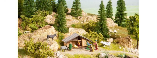 NOCH 12027 Weihnachts-Krippe mit 8 Figuren Fertigmodell 1:87