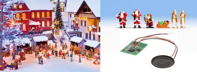 NOCH 12897 Sound-Szene Weihnachten mit Figuren und Lautsprecher 1:87