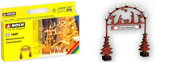 NOCH 14681 Weihnachtsmarkt Eingangsbogen | LaserCut minis Bausatz Spur N