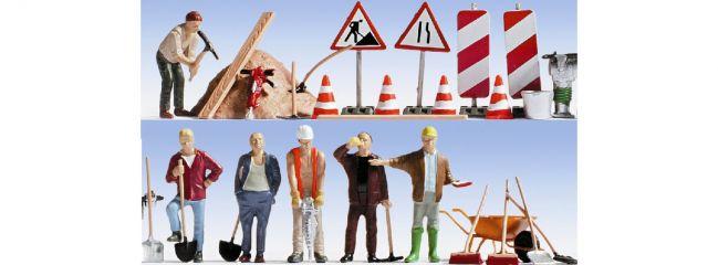 NOCH 15111 Bauarbeiter Figuren mit  Zubehör Spur H0