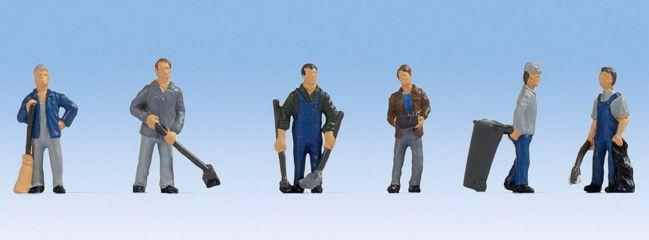 NOCH 15116 Hausmeister | 6 Miniaturfiguren | Spur H0