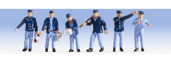 NOCH 15282 Lokführer + Rangierer | 6 Miniaturfiguren | Spur H0
