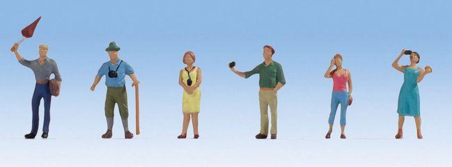 NOCH 15472 Reisegruppe   6 Miniaturfiguren   Spur H0