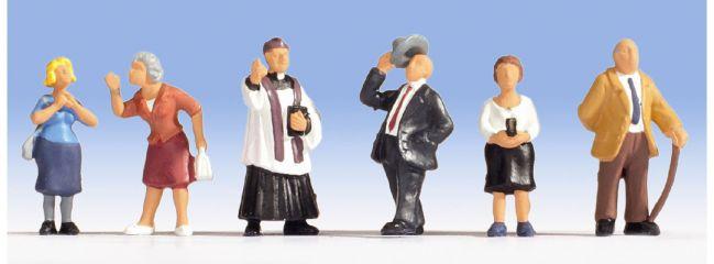 NOCH 15577 Kirchgänger | 6 Miniaturfiguren | Spur H0