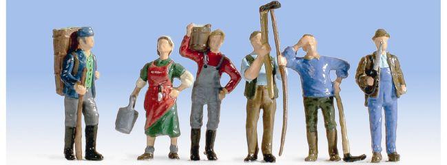 NOCH 15614 Weinbauern | 6 Miniaturfiguren Spur H0