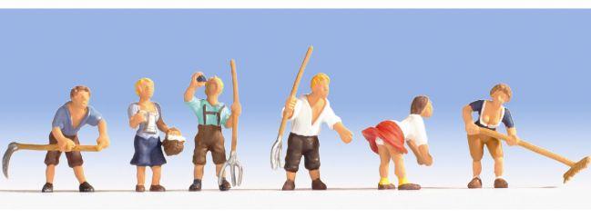 NOCH 15618 Bergbauern | 6 Stück Miniaturfiguren | Spur  H0