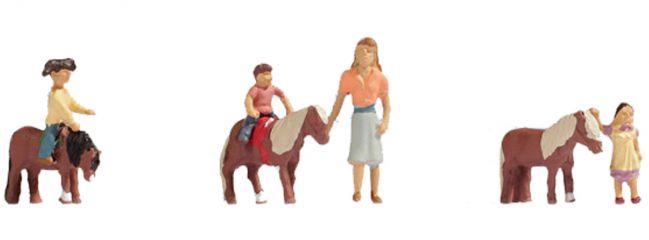 NOCH 15635 Ponyreiten | Figuren Spur H0