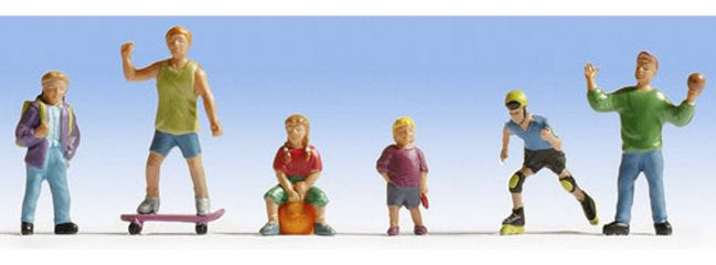 NOCH 15810 Spielende Kinder 6 Figuren  Spur H0