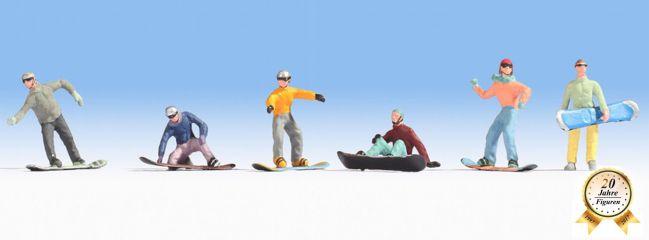 NOCH 15826 Snowborder 6 Figuren Spur H0