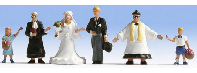 NOCH 15860 Hochzeit | 6 Miniaturfiguren | Spur H0