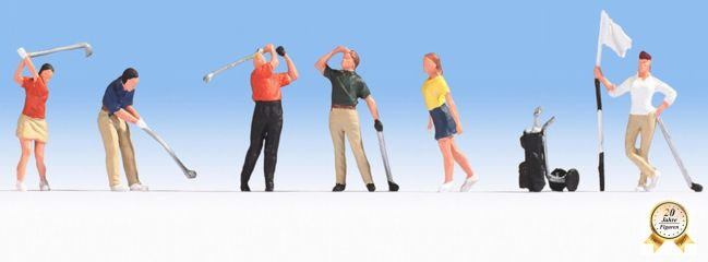 NOCH 15885 Golfspieler 6 Figuren Spur H0