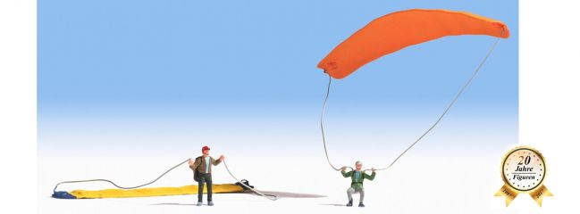NOCH 15886 Paraglider 2 Figuren mit Gleitschirm Spur H0