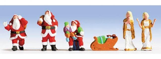 NOCH 15920 Weihnachtsfiguren | Miniaturfiguren mit Zubehör | Spur H0