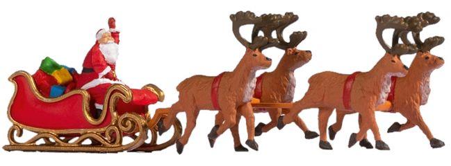 NOCH 15924 Weihnachtsmann mit Schlitten | 5 Stück | Figuren Spur H0