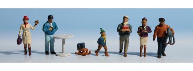 NOCH 15926 Weihnachtsmarkt  Figuren mit Zubehör  Spur H0