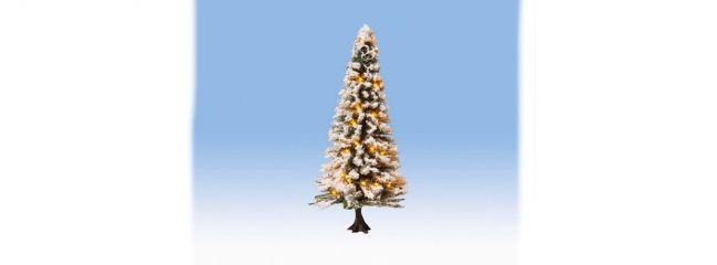 NOCH 22130 Weihnachtsbaum beleuchtet mit Schnee mit  30LEDs Fertigmodell Spur H0