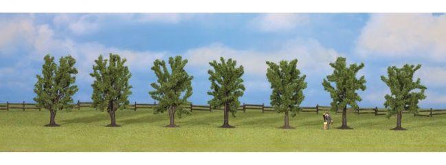 NOCH 25088 Laubbäume | Höhe ca 8 cm | 7 Stück | alle Spurweiten