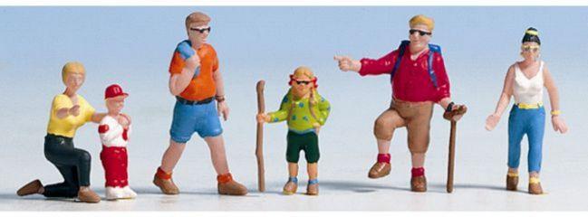 NOCH 36870 Wanderer | 6 Miniaturfiguren | Spur N