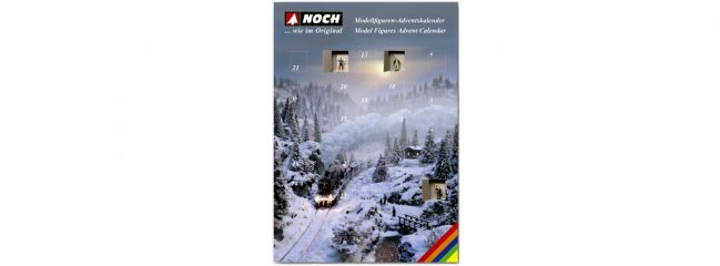 NOCH 36992 Figuren-Adventskalender 2019 | 25 Figuren | Spur N