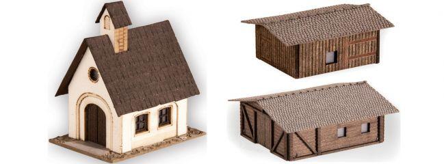 NOCH 44315 Kleingebäude-Set 3-teilig | Bausatz Spur Z