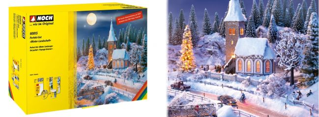 NOCH 60815 Perfekt-Set Winter-Landschaft Zubehörset für alle Spurweiten geeignet