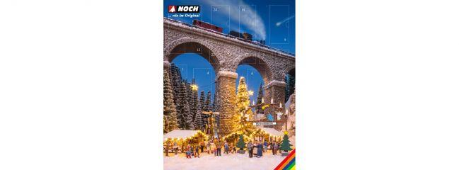 NOCH 65590 Bastel-Adventskalender 2019 Weihnachtsmarkt | Bausatz Spur H0