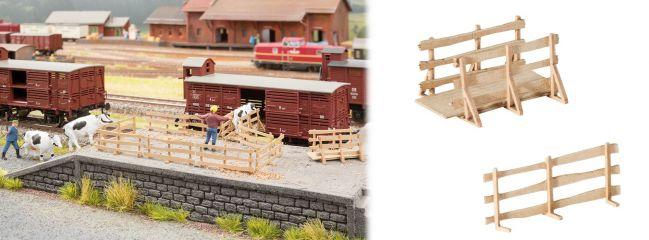 NOCH 65614 Themen-Set Viehverladebrücken mit Gattern Bausatz Spur H0