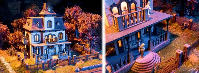 NOCH 66990 Geisterhaus mit micro-sound und Lichteffekten LaserCut Bausatz 1:87