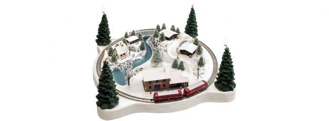 NOCH 88064 Adventskranz Winterzauber | mit Rokuhan Gleisen | Fertigmodell Spur Z