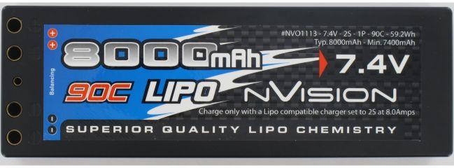 nVision NVO1113 Factory Pro LiPo-Akku | 2S | 7,4 Volt | 8000 mAh | 90C