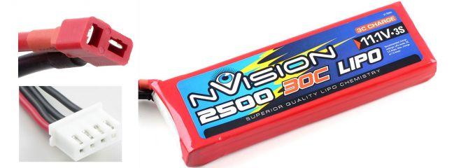 nVision NVO1811 LiPo-Akku |  3s | 11,1 Volt | 2500 mAh | 30C | DEANS