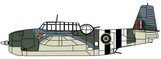 OXFORD 81AC099 Grumman Avenger 855 Sqn J2490   Flugzeugmodell 1:72