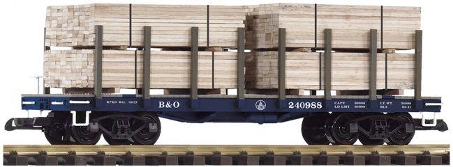 PIKO 38741 Rungenwagen mit Ladung B&O | Spur G