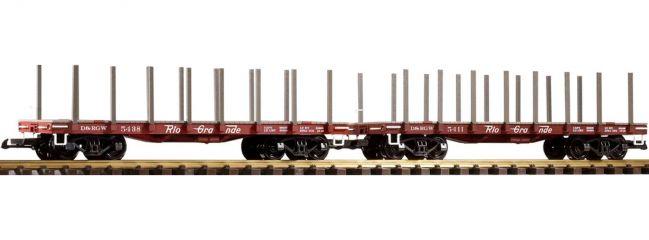 PIKO 38744 Flachwagen-Set 2-tlg. braun D&RGW braun | Spur G
