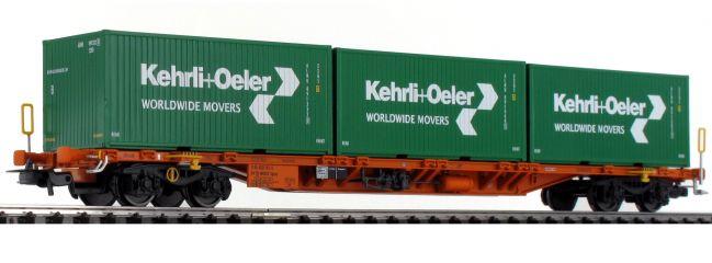 ausverkauft | PIKO 54685 Tragwagen Sgnss mit Beladung Kehrli+Oeler SBB | DC | Spur H0