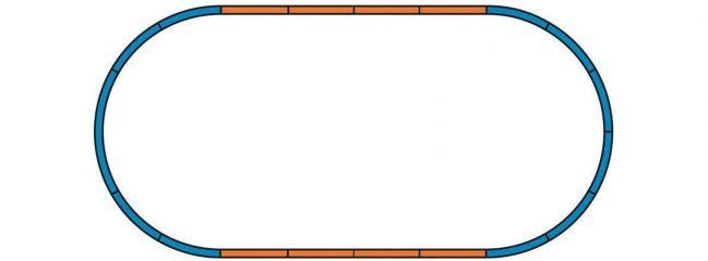 PIKO 55365 A-Gleis Bettung lose | für Ergänzungsset A + 4 Geraden | Spur H0