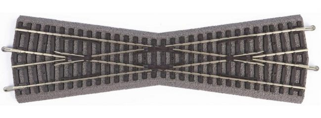 PIKO 55440 Kreuzung K15 mit Bettung | 1 Stück | A-Gleis Spur H0